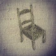 """Imogen Di Sapia """"The Golden Chair"""" (embroidery on silk)."""